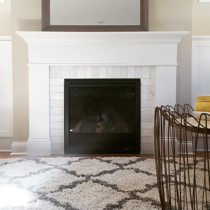 Framed fireplace in our latest Optima Home new construction