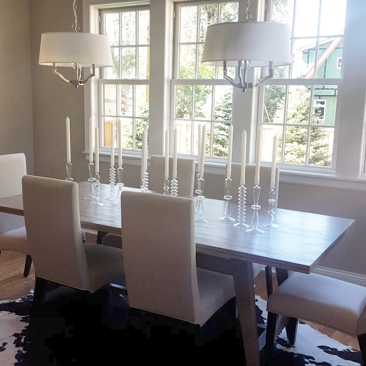 Lovely dining area in new construction in Minnetonka, MN
