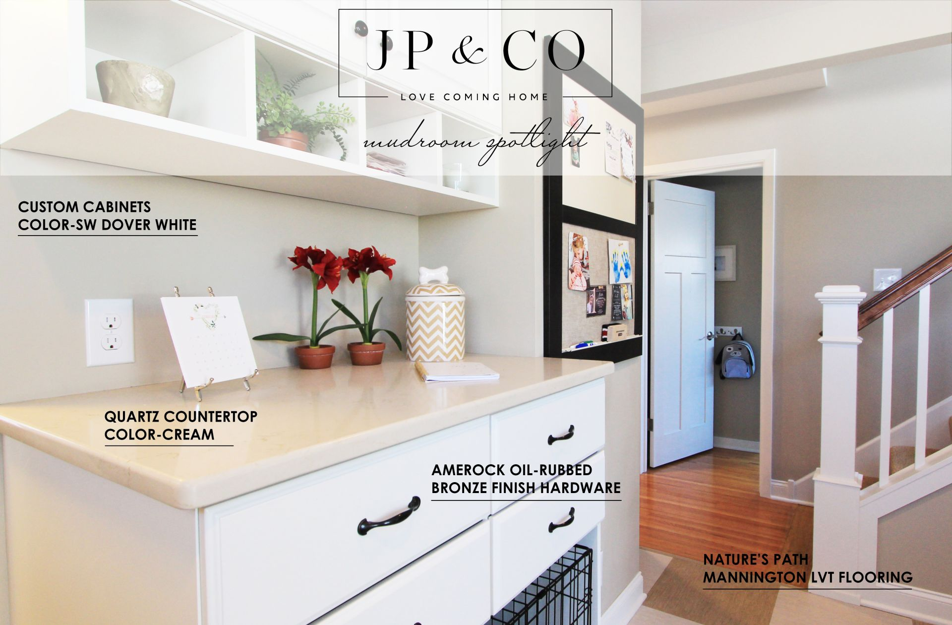 a graphic of products used in a mudroom